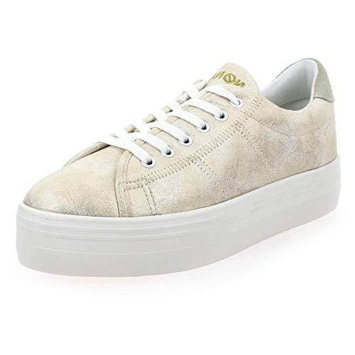 No Name Plato Sneaker Zapatillas Moda Mujeres Oro - 40 - Zapatillas Bajas Shoes