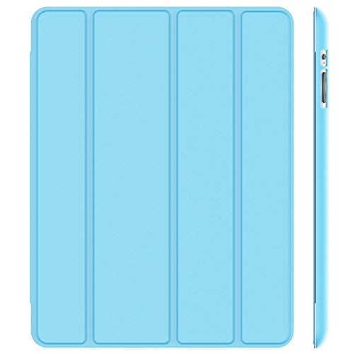 JETech Hülle für Apple iPad 4, iPad 3 & iPad 2, Schutzhülle mit Ständer Funktion & Auto Schlaf / Wachen, Blatt Blau