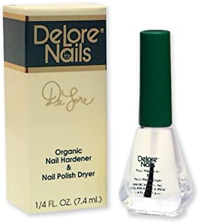 Delore for Nails Organic Nail Hardener and Nail Polish Dryer.25-Ounce (Pack of 2)