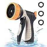 Garden Water Hose Nozzle Sprayer - 9 Adjustable Spray Patterns and Water Flow Control Hose Gun High Pressure for Garden & Car Washing