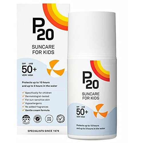 Riemann P20 Sun Cream For Kids SPF50+ 200 ml Long Lasting Protection for up to 10 Hours Water Resistant for up to 3 Hours, Suitable for children aged 1+