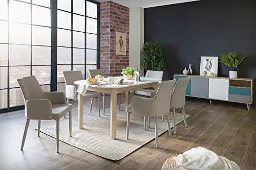 Preisvergleich Produktbild Newfurn Esstisch Tisch Weiß Esszimmertisch Küchentisch Speisetisch II 160-200x76x 90 cm (BxHxT)