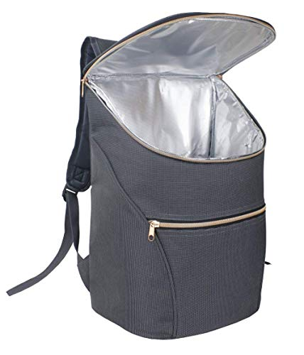 Just Smart Kitchenware Chic Cooler Backpack, 20L, Insulated Cooler Bag - Stylish Daypack for Work, Shopping, Events, Days Out, Picnics, Beach & Travel