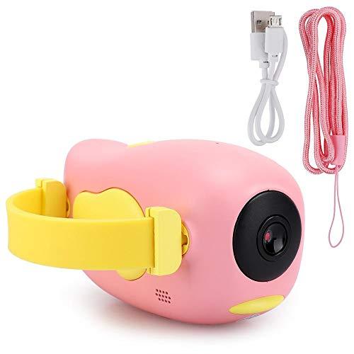 ASHATA Kids Digitalkamera, Mini Cute Digital Videokamera DV Toy mit 2,0-Zoll-Bildschirm, wiederaufladbare Selfie-Kamera, für Kinder Kinder, Geburtstagsgeschenke für Jungen und Mädchen(Rosa)