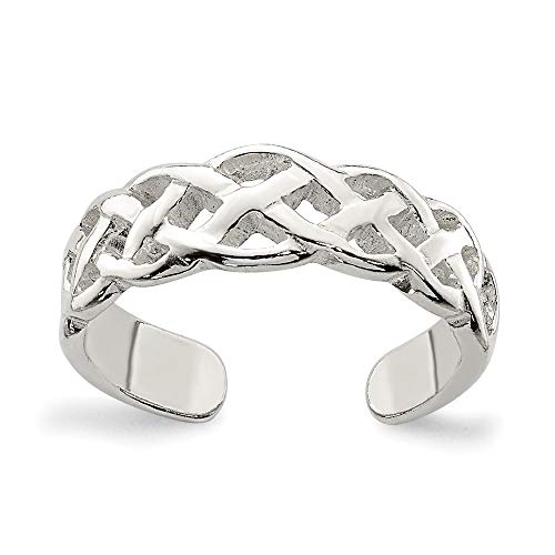 925 Sterling Silver Irish Claddagh Celtic Knot Weave Adjustable Cute Toe Ring Set Fine Jewelry For Women Gifts For Her