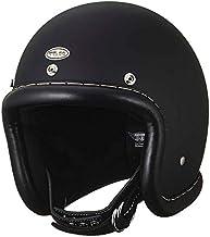 TT&CO. スーパーマグナム ヴィンテージレザートリム ブラックレザー マットブラック ジェットヘルメット
