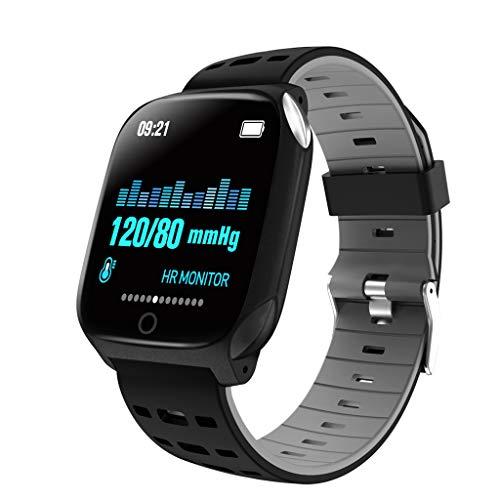 Smart Watch, F16 Blood Pressure Heart Rate Sleep Monitor Pedometer Bracelet Inteligente Reminder Stopwatch Smartwatch, Black