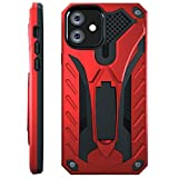 Kitoo Designed for iPhone 11 Case with Kickstand, Military Grade 12ft. Drop Tested - Red