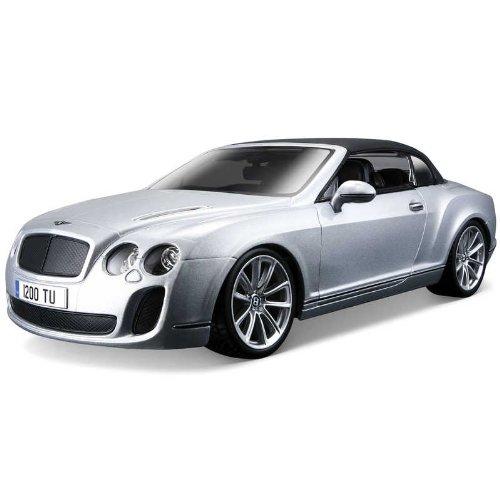 Bburago 11037S - Modellauto 1:18 Bentley Continental Supersports Convertible, Silber