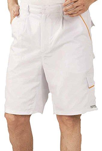 Planam Planam Shorts Highline, in vielen Farben und Größen (XXXX-Large, weiß/weiß/gelb)