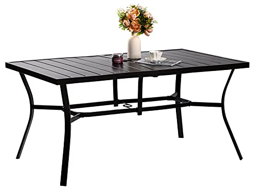 VOYSIGN Outdoor Rectangle Dining Table, Patio Furniture Size...
