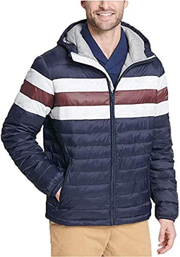 Tommy Hilfiger Men's Ultra Loft Hooded Logo Puffer Jacket