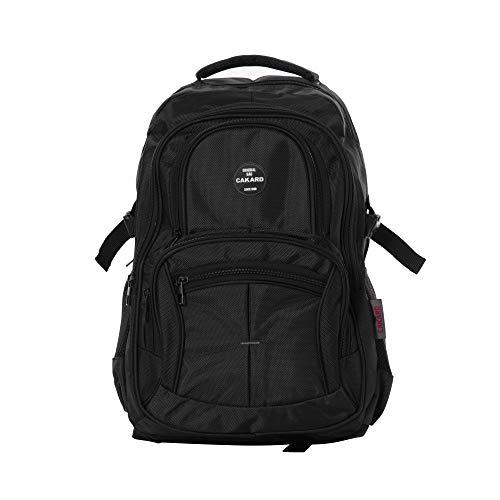 Cakard 4001 Rucksack | Backpack Daypack Damen | Wanderrucksack | Schulrucksack Jungen | Sportrucksack Herren, Damen Und Teenager | Laptop 15 Zoll | Wasserdichter Rucksack | (Schwarz)