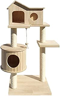 Cat Tower Popular Cat Toy Cat Tree for Large Cat, Cat House Wooden Condo Furniture Scratching Post Climbing Perches Platfo...