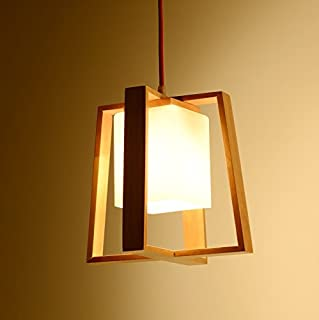 Creative Single Head Mysterious Solid Wood Art Bedroom Lights