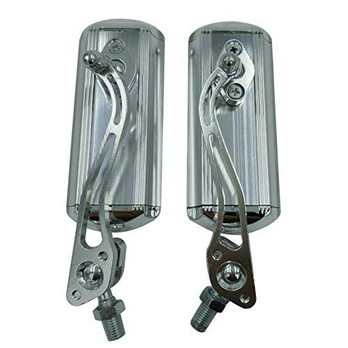 pushfocourag - Espejo retrovisor para Manillar de Motocicleta, con rotación de 360 Grados, Blanco