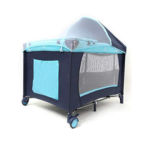 Berceau de voyage pliable avec matelas à langer avec moustiquaire, parc, roues, sac de transport pour bébé de 0 à 3 ans