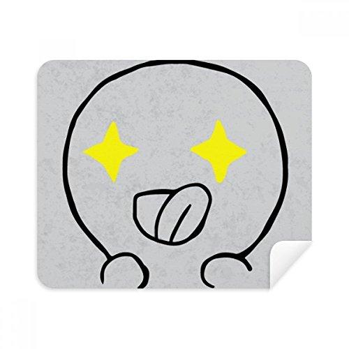 Ogen verzenden Forth Zwart Emoji Telefoon Schermreiniger Bril Reinigingsdoek 2 stks Suede Stof
