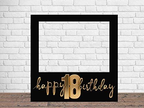 Photocall Feliz 18 Cumpleaños 100 x100 cm   Regalos para Cumpleaños   Photocall Económico y Original   Ideas para Regalos   Regalos Personalizados de Cumpleaños