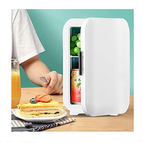 LEIKEI Mini refrigeradores, refrigerador pequeño de Mesa de 5/10 l, congelador de Bebidas y cosméticos, enfriamiento rápido para el hogar, Hotel, Bar, dormitorios, apartamento,White-5L