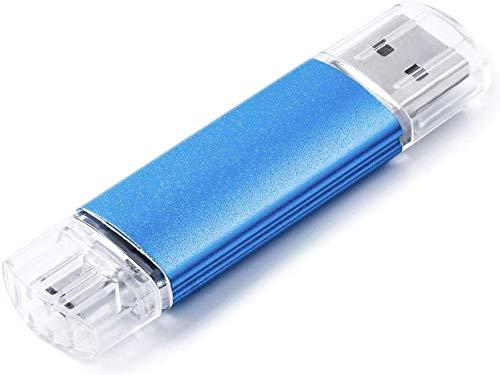 VANSUNY Clé micro USB OTG USB 2.0 64 Go pour smartphones Android, clé USB pour photos, Thumb Drive Pen Drive pour tablettes, Mac/appareils Android Bleu