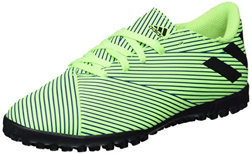 adidas Men's Nemeziz 19.4 Turf Soccer Shoe, Signal Green/Black/Team Royal Blue, 10 M US