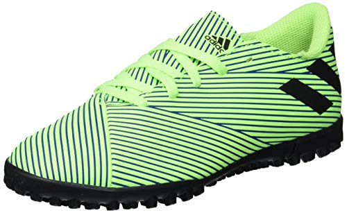 adidas Men's Nemeziz 19.4 Turf Soccer Shoe, Signal Green/Black/Team Royal Blue, 11 M US