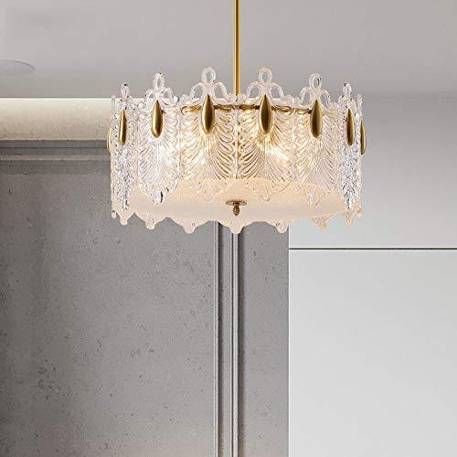 Kroonluchter van kristal, koperen hanglamp, lamp voor de slaapkamer, E14, lichtbron