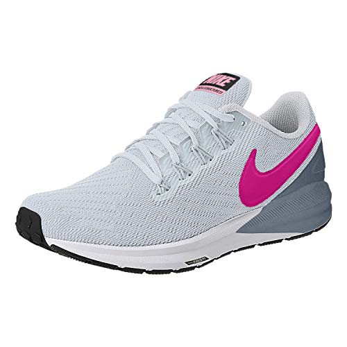 Nike Womens Air Zoom Structure 22 Run Shoes AA1640 Half Blue/Pink/Obsidian9