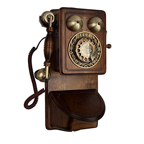 LIUNA Tarjeta Inalámbrica Retro De Madera Maciza Valioso Teléfono De Pared En La Década De 1970。