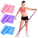 EnriQ Resistance Bands Set of 3, Premium Non-Latex Elastic Exercise Bands 6 ft. Long Exercise Stretch Bands for Any Exercise Physical Therapy, Yoga, Home,Outdoor, Gym Women Men