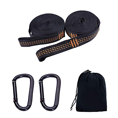 Camping Hammock Accessories Suspension System Hammock Tree Straps 2000+ lbs Heavy Duty With 18 Loops,100% No-Stretch Polyester,2 Pack