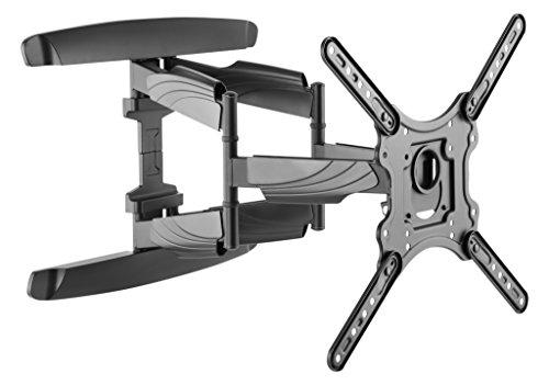 ICY BOX IB-TV1001-W TV-Wandhalterung bis 45 kg, 23 Zoll (58,4 cm) bis 65 Zoll (165,1 cm), VESA 100x100 bis 400x400, schwenk-/herausziehbar, schwarz