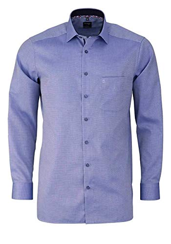 Olymp 1208/54 Hemden, blau(Marine), Gr. 46