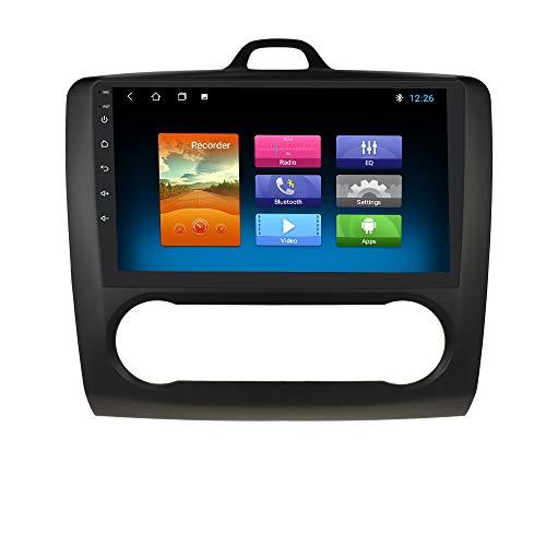 9 Pollici Android 10 Navigazione per Autoradio Stereo Supporto Bluetooth WiFi MirrorLink Fit per Ford Focus Exi a 2004 2005 2006 2007 2008 2009 2010 2011 (Nero)