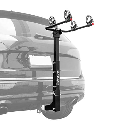 Retrospec Lenox Car Hitch Mount Bike Rack with 2-Inch Receiver; 2 Bicycle Carrier