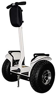 OUTSTORM 4000w/ 84v Offroad Electric Self Balance, City, Boardwalk Travel, Sightseeing, or Golf Course Use, Foldable Vehicle 34 Miles Range/13MPH Speed (4000w/ 84v /8.8Ah / 34 Miles Range/White)