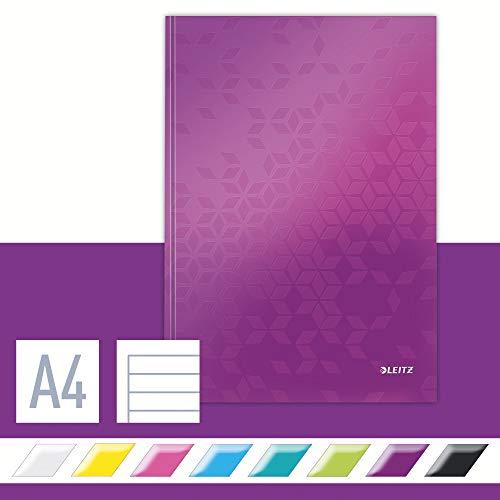 Leitz 46251062 Notizbuch WOW, A4, liniert, violett