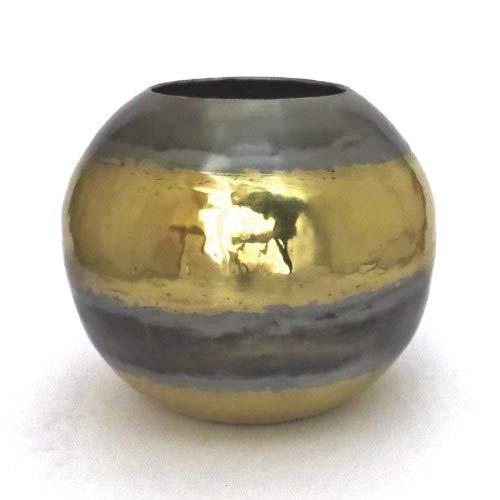 Colmore Vase Metall Rund Tisch Deko Gold Silber Messing 23 cm