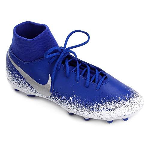 Chuteira Nike Campo Botinha Phantom Vsn Club Df Fg Mg Tamanho:40;Cor:Azul