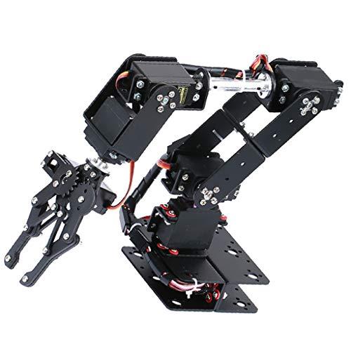 Shiwaki DIY 6DOF Mechanical Robotic Arm Clamp Kit For Robot Car Arduino
