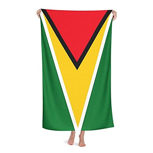 Handtücher Guyana-Flagge Badehandtuch Mikrofaser Strandtücher Ultra Leicht Fitnesshandtuch Für Sauna Fitnessstudio Outdoor 80X130 cm