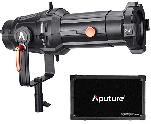 Aputure Spotlight Mount 36° Lighting Modifier with Interchangeable Projector Len and 3 GOBO for Aputure 120D Mark 2 120D LS C300D and Other Bowen-S Mount Light, Including PERGEAR Soft Diffuser