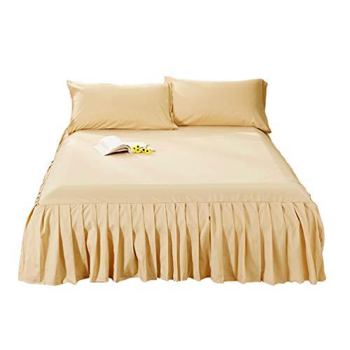 Guiran Einfarbig Bett Rock Bettdecke Einteiliges Volant Elegant Comfort Elastische Bettumrandung,Staubdicht Bettverkleidung Cq001-13 180 * 200cm