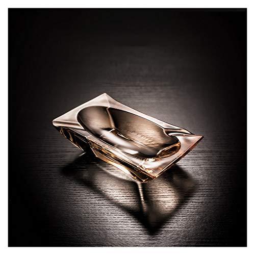AO HAI ceniceros Cenicero de Cristal cenicero Personalidad de Moda con Forma...