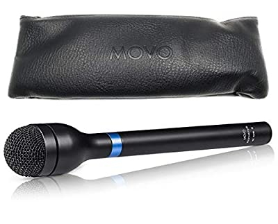 Movo HM-M2 Dynamic Omnidirectional Handheld XLR Reporter / Interview / Presentation Microphone