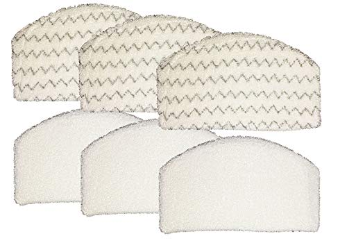 Al-Vacuum Microfiber Cleaning Mop Pads for Bissell 1940, 1440 Series Steam Mop,3 Replacement Pads with Scrubbing Strips & 3 with Soft Exterior | Ideal for Hardwood Floors, Tiles, Laminate & More
