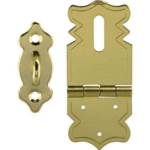SECOTEC Kassetten-Verschluss | Schatullen-Verschluss  | Kästchen-Verschluss | 47x20 mm | gold-färbig | 1 Stück