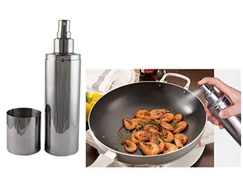 MUUZONING Oil Sprayer, Pulverizador Aceite Dispensador de Aceite y Vinagre, Botella de Vinagre y Aceite de Oliva Rociador de Cocina Aceitera Spray de para Ensaladas/Cocinar/Hornear/Freír -250ml