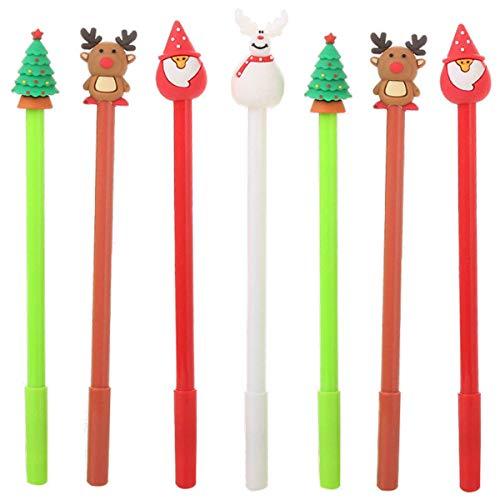 Maydahui 28PCS Novelty Christmas Series Rollerball Pens Black Gel Ink for Office School Kids (4 Style - Christmas Tree, Snowman, Reindeer, Santa Claus)